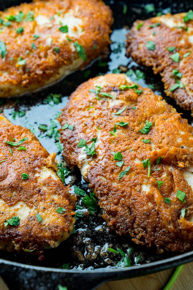 Crispy Parmesan Crusted Chicken