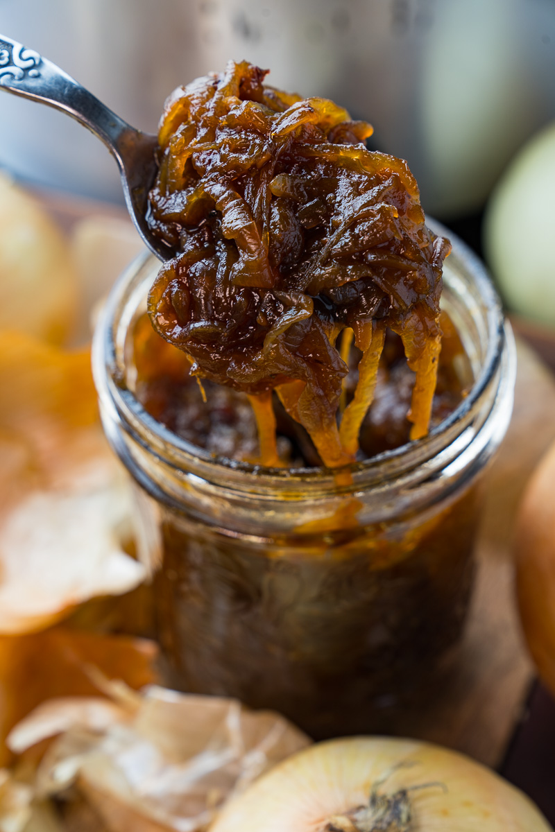 Slow Cooker Chipotle Maple Onion Jam