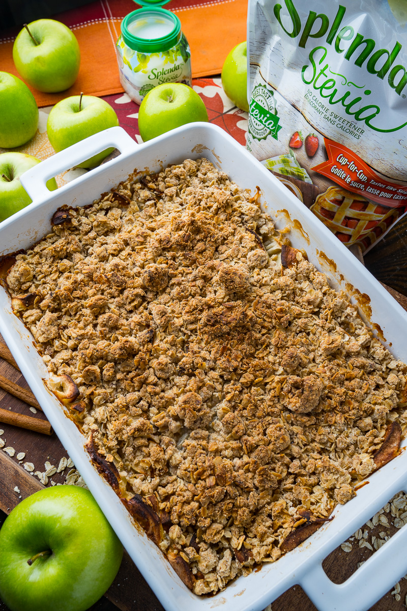 Easy No Sugar Added Apple Crumble