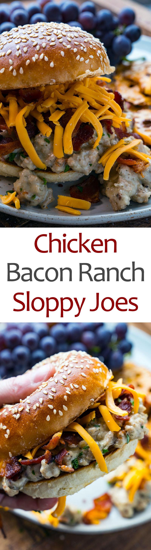 Chicken Bacon Ranch Sloppy Joes