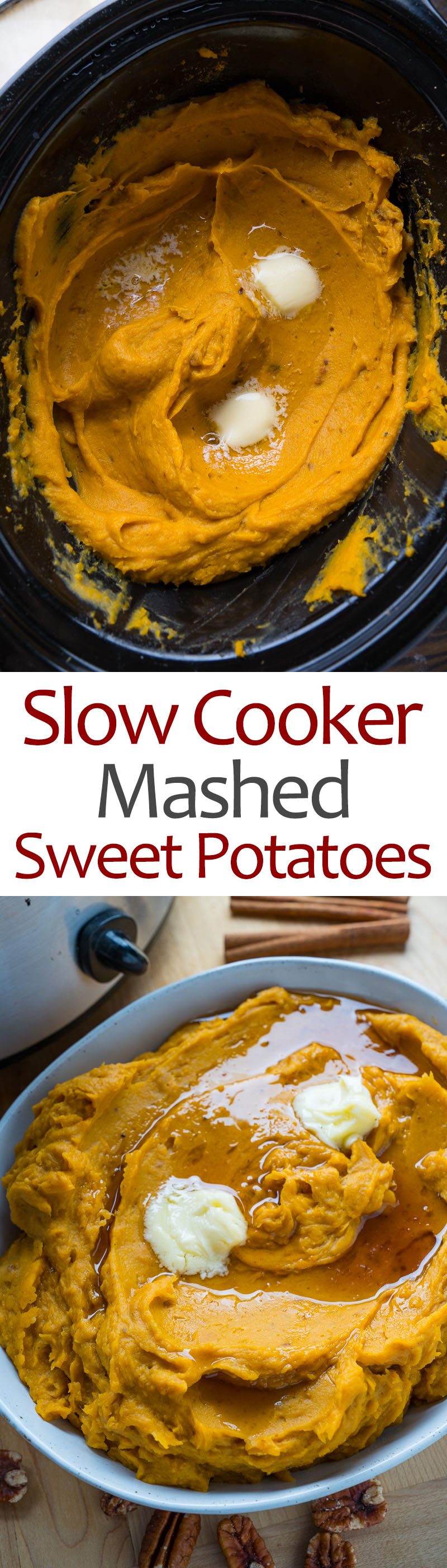 Slow Cooker Mashed Sweet Potatoes