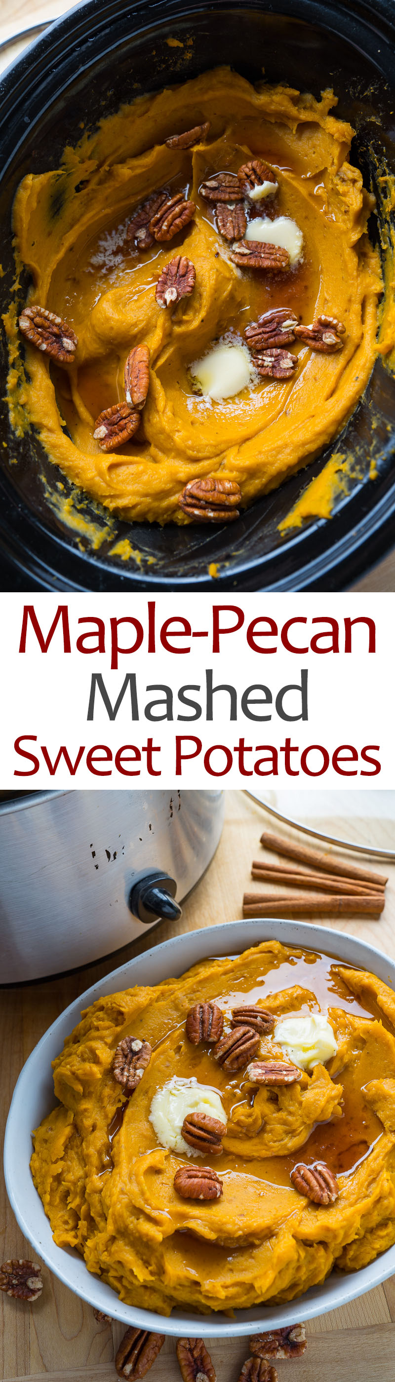 Slow Cooker Maple-Pecan Mashed Sweet Potatoes