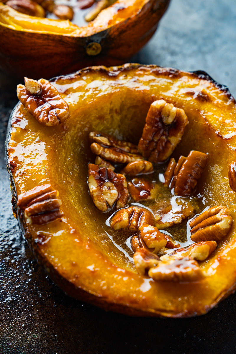 Maple Pecan Roasted Acorn Squash Closet Cooking