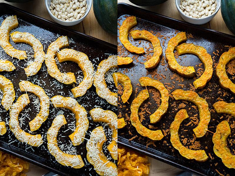 Parmesan Roasted Acorn Squash