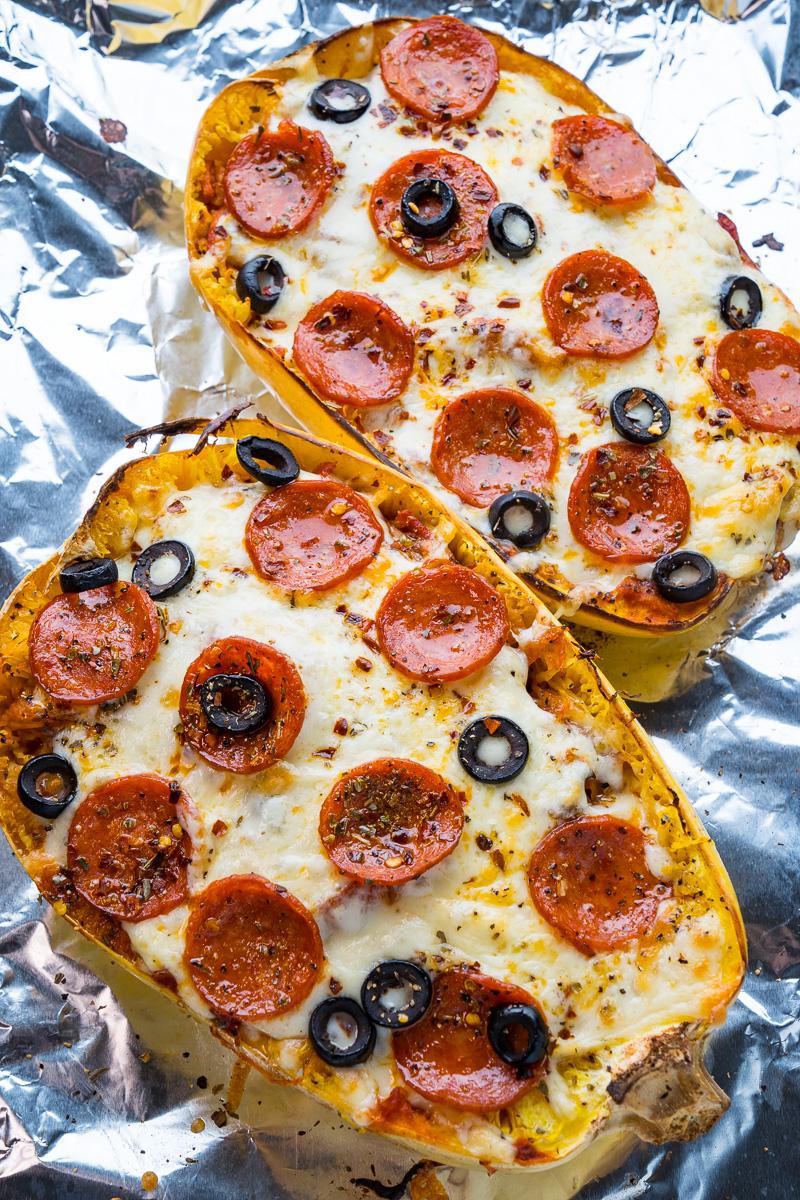 Pepperoni Pizza Spaghetti Squash