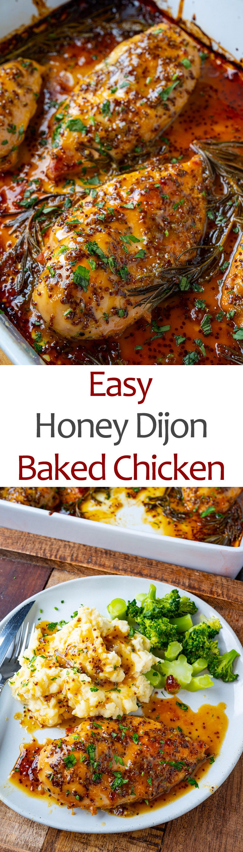 Easy Baked Honey Dijon Chicken