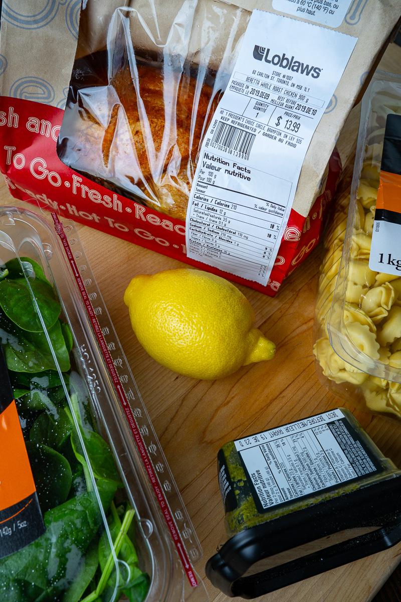 One Pan 20 Minute Chicken Alfredo Tortellini