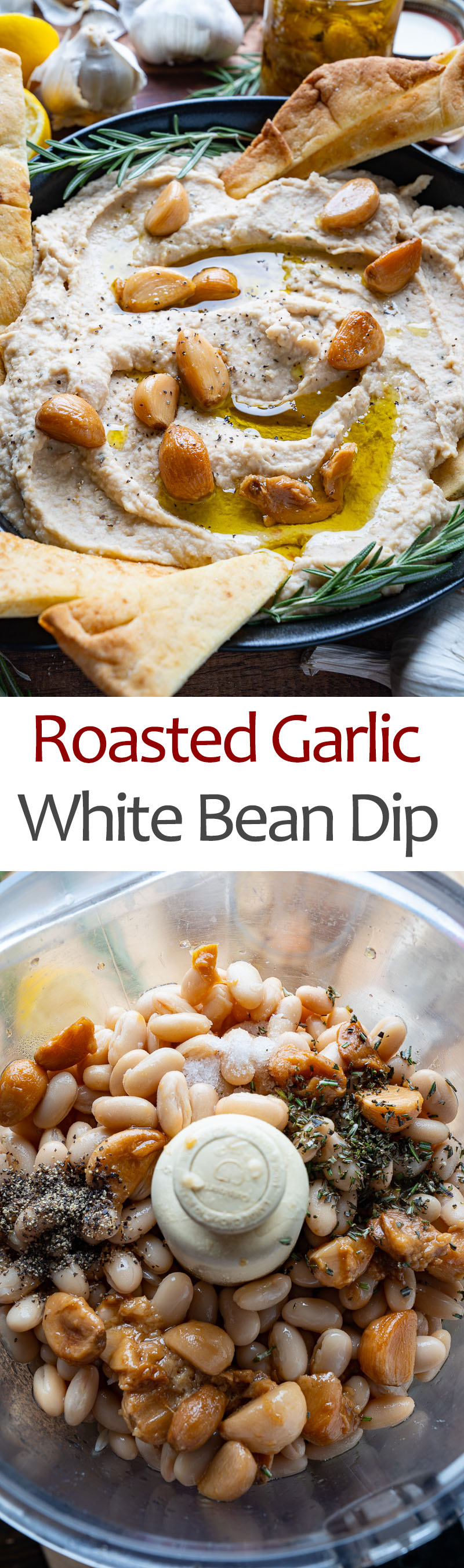 Roasted Garlic and Parmesan White Bean Dip