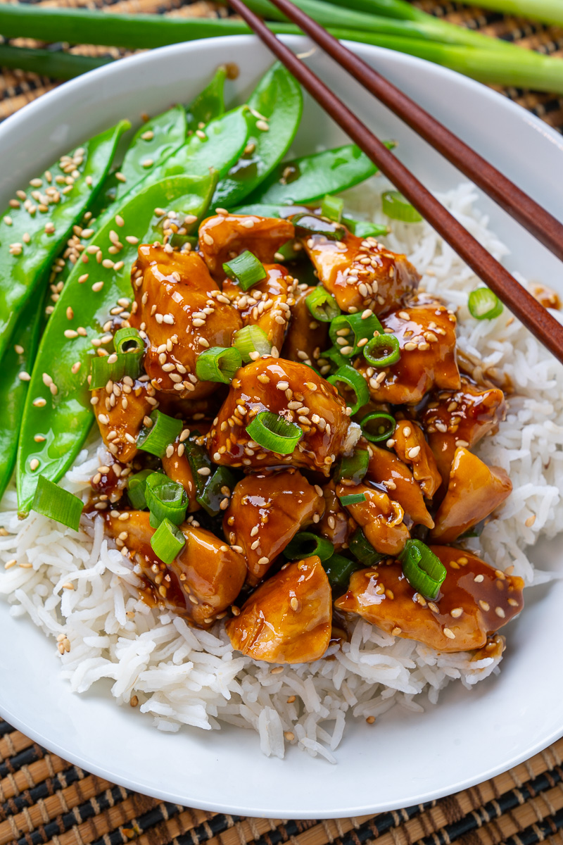 20 Minute Skinny Sesame Chicken Closet Cooking