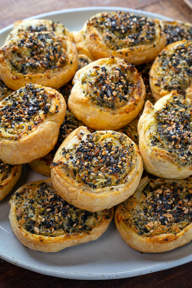 Spinach and Artichoke Dip Pinwheels