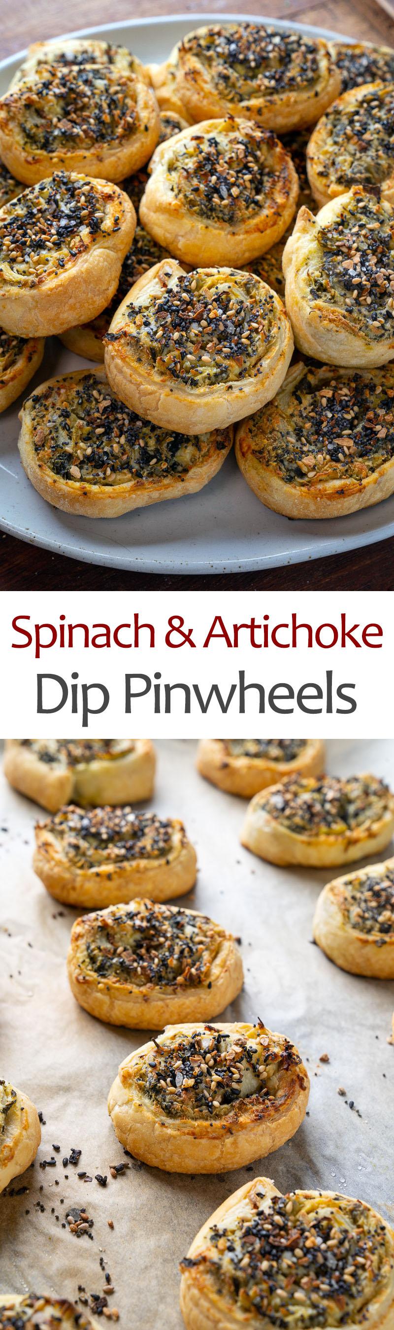 Spinach and Artichoke Dip Pinwheels