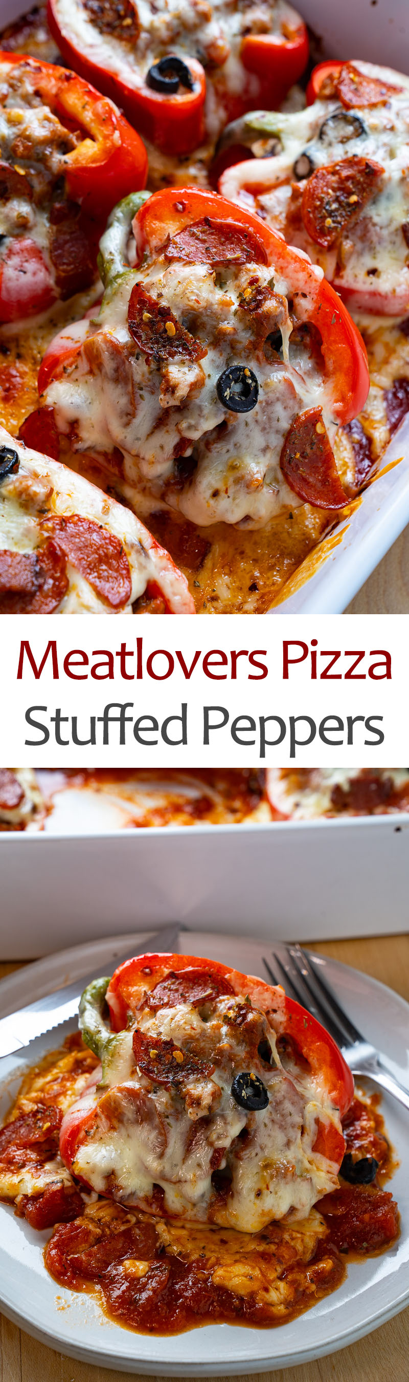 Meat Lovers Pizza Stuffed Peppers