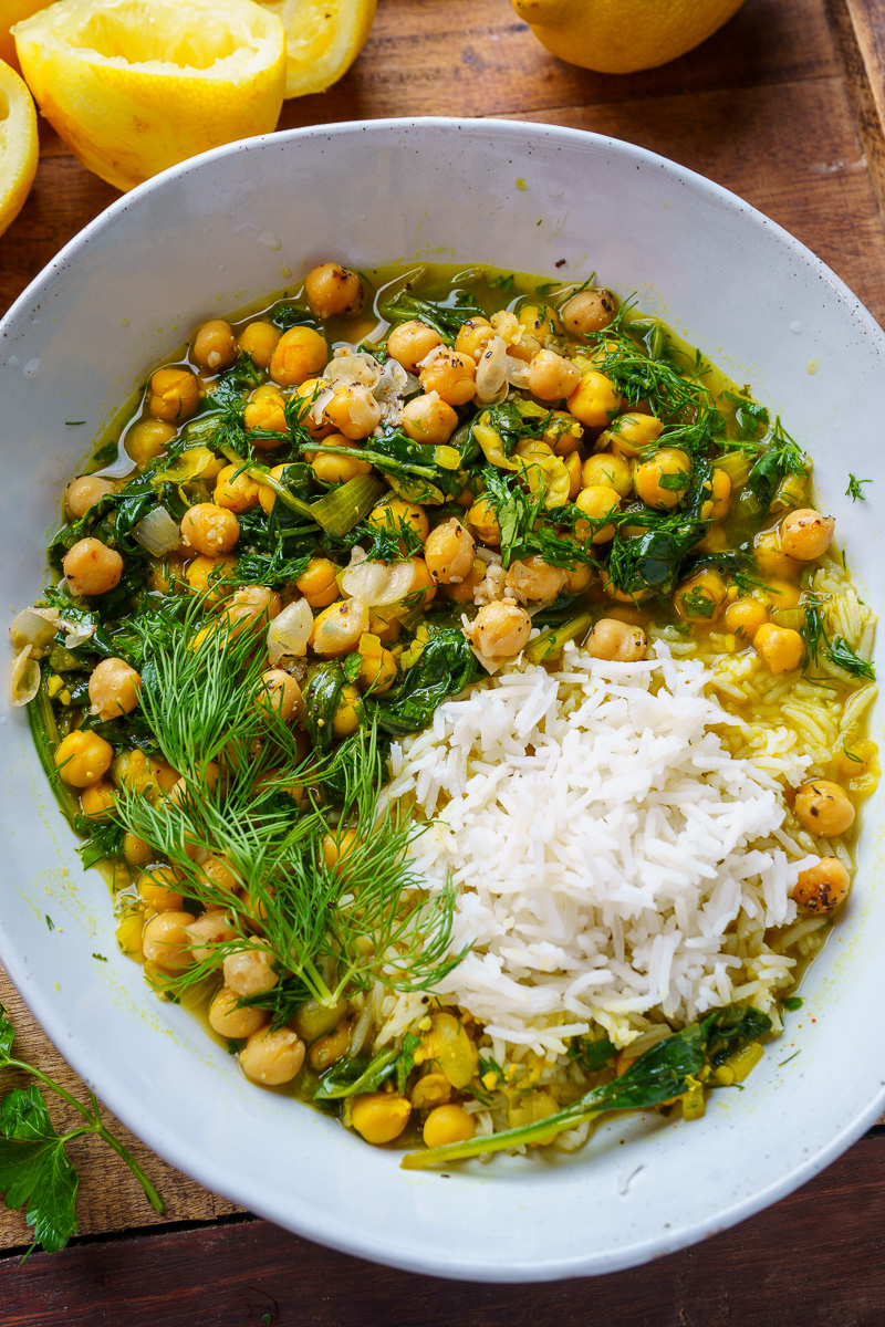 Chickpea, Spinach and Herb Stew