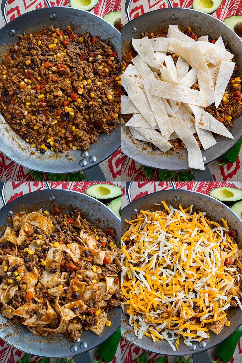 Cheesy Beef Burrito Skillet