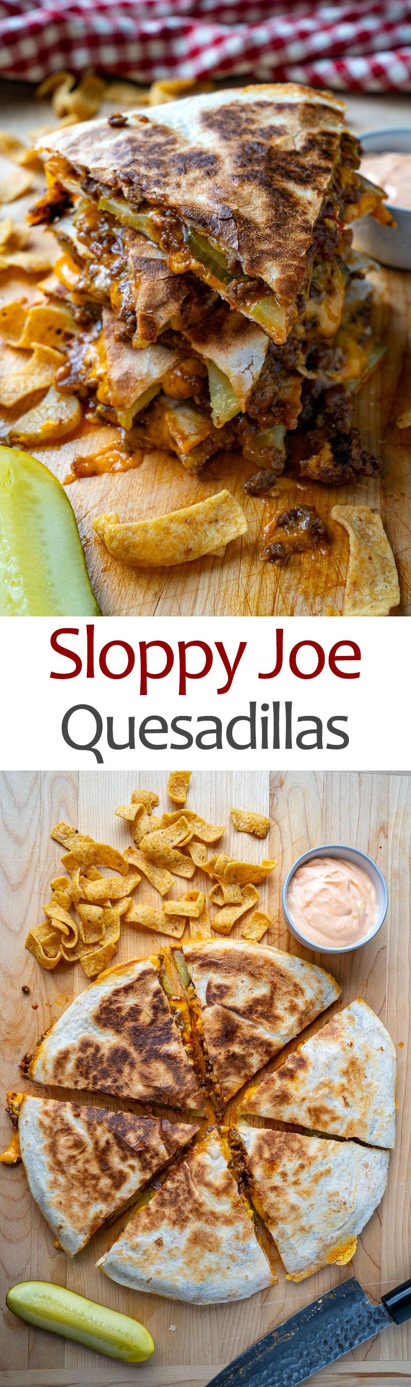 Sloppy Joe Quesadillas