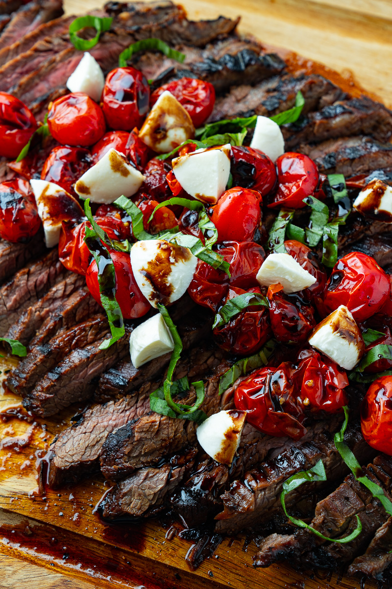 Balsamic Grilled Flank Steak Caprese