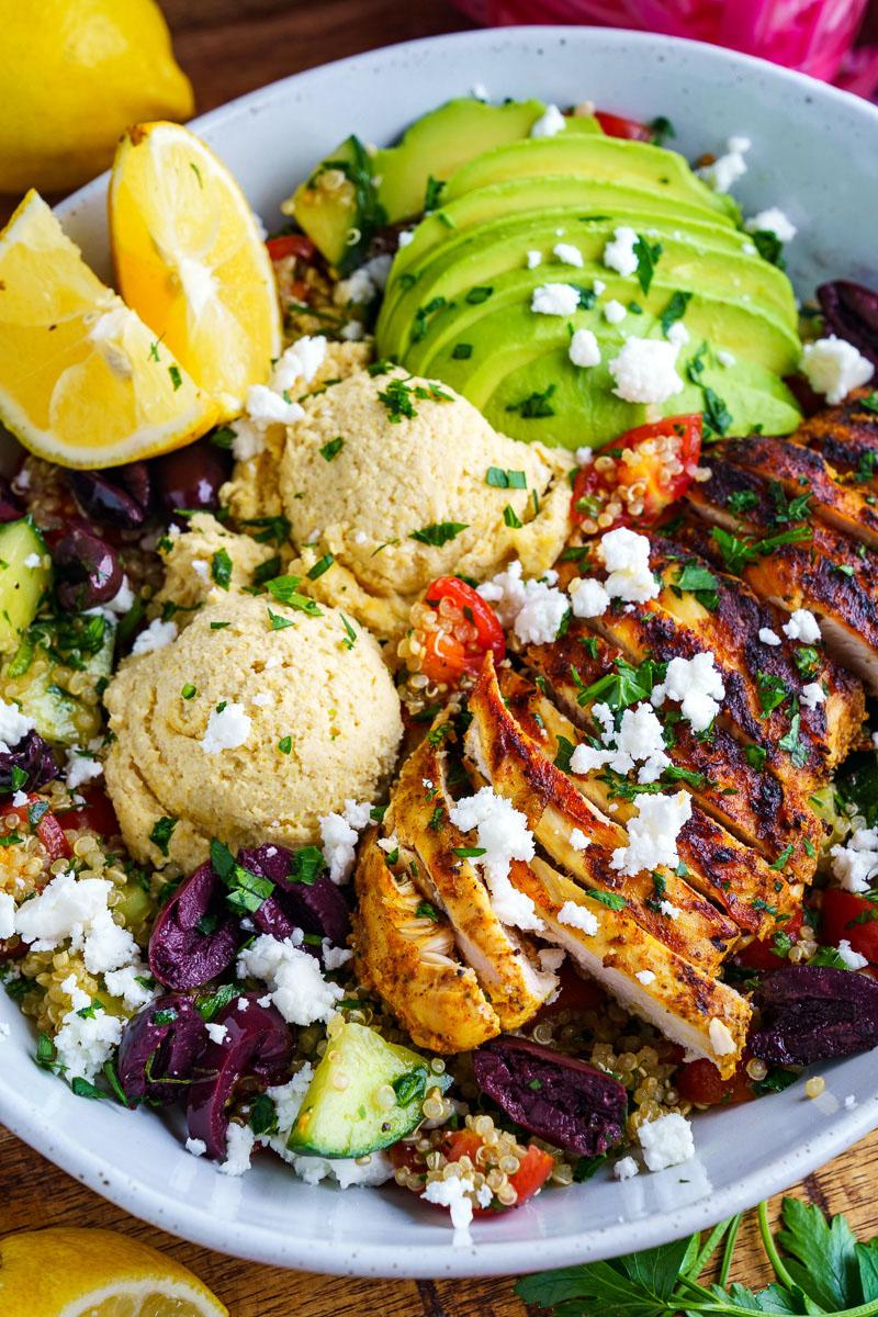 Chicken Shawarma Quinoa Tabbouleh Salad Bowls