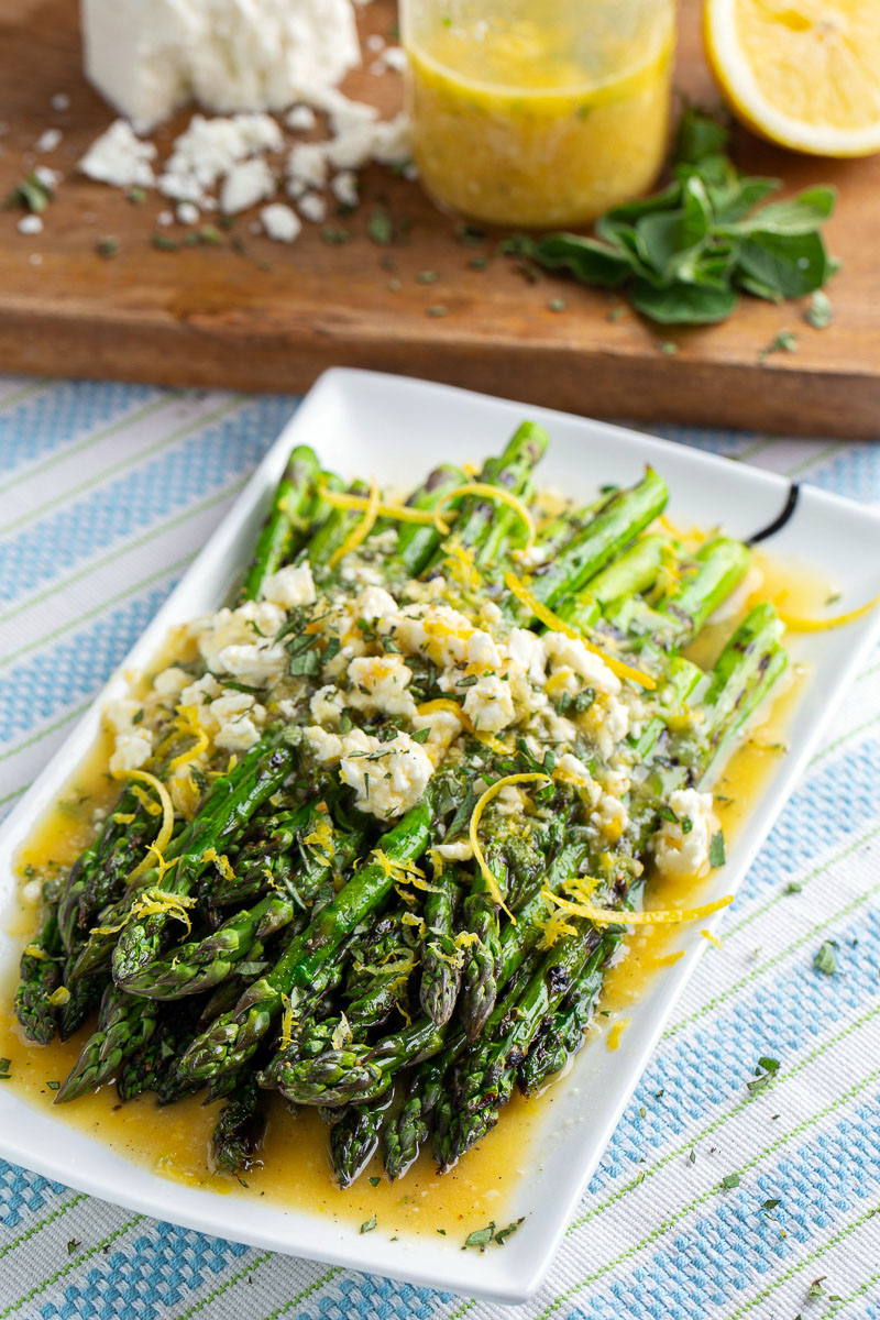 Lemon and Feta Grilled Asparagus