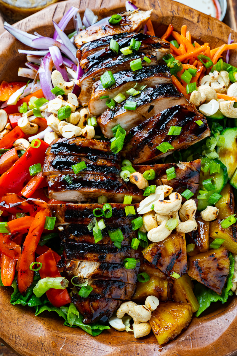 Grilled Chicken Teriyaki and Pineapple Salad