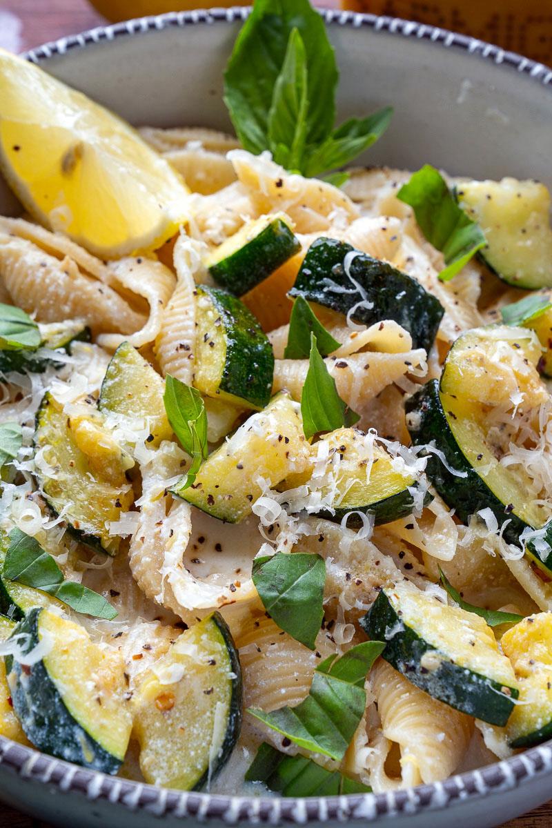 Lemon Ricotta Zucchini Pasta