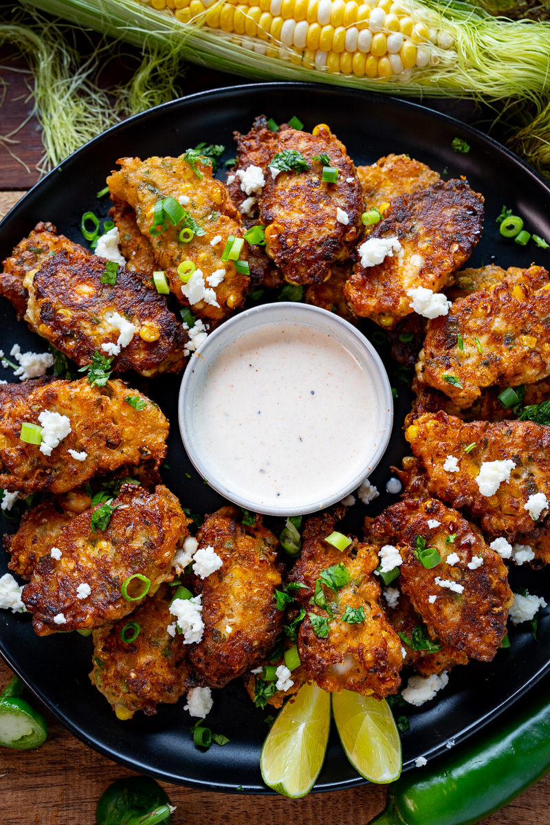 Mexican Street Corn Fritters