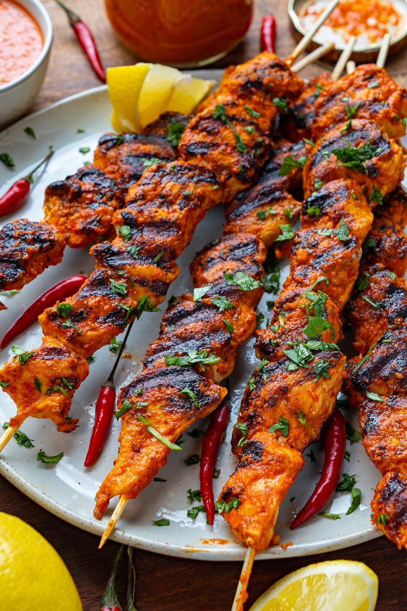 Peri Peri Grilled Chicken Skewers