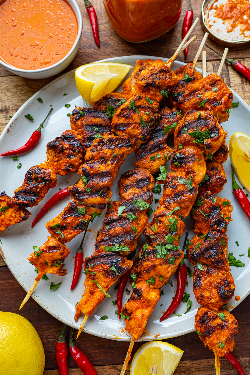 Peri Peri Grilled Chicken Skewers Closet Cooking