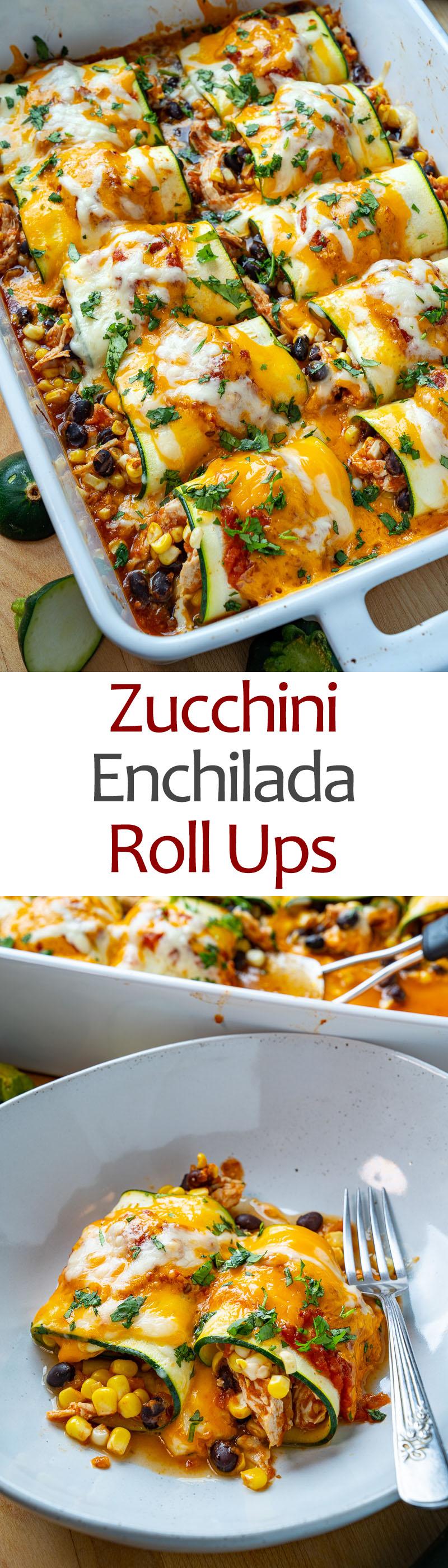 Zucchini Enchilada Roll Ups