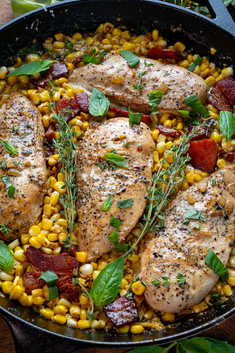 Creamed Corn Skillet Chicken