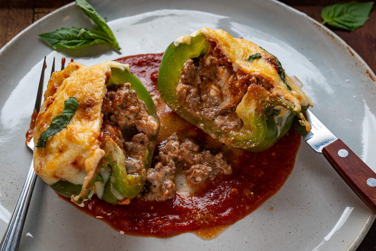 Lasagna Stuffed Peppers
