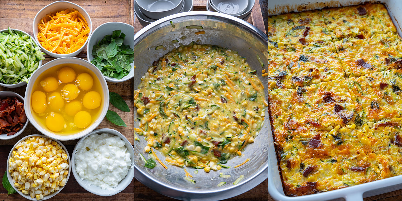 Zucchini and Corn Egg Casserole