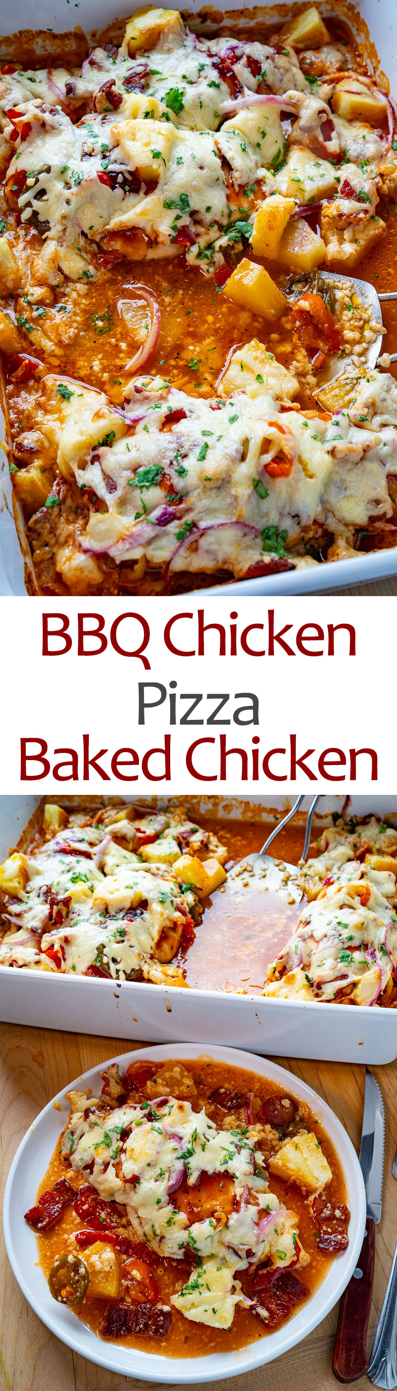 BBQ Chicken Pizza Baked Chicken