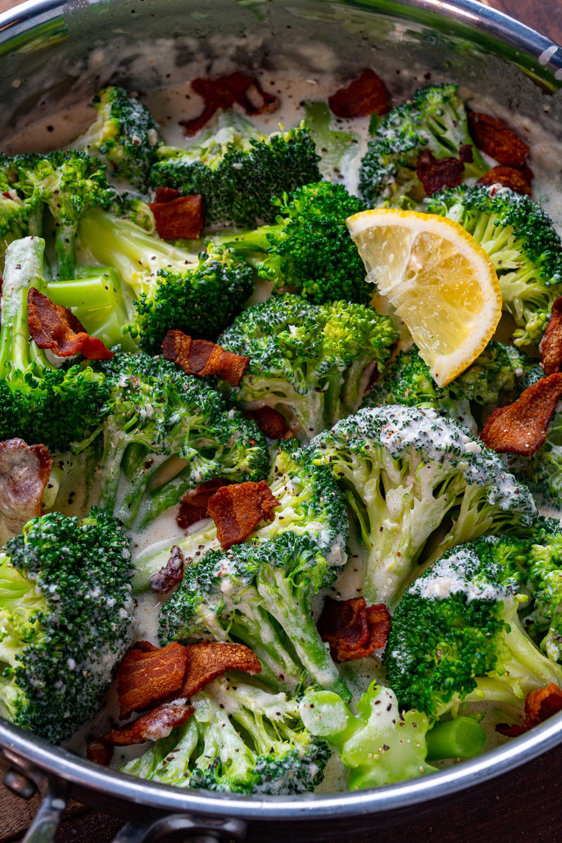 Creamed broccoli