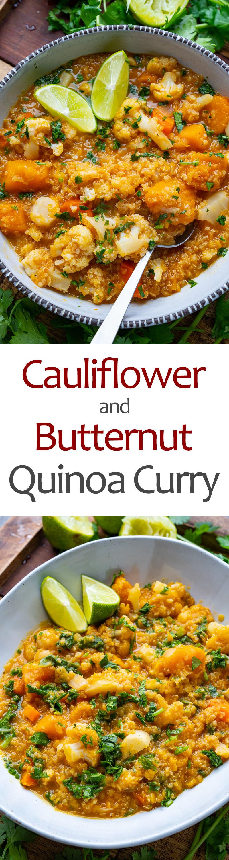 Cauliflower and Butternut Quinoa Curry