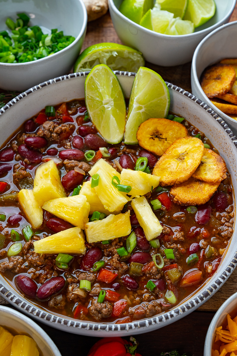 Jamaican Jerk Beef and Bean Chili