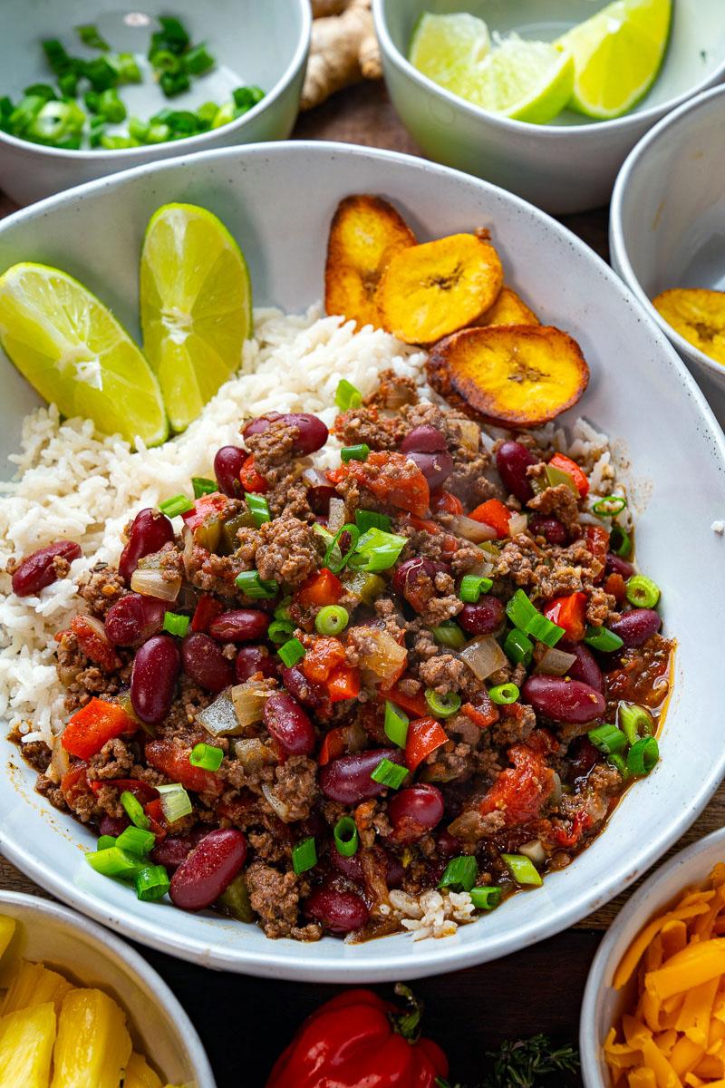Jamaican Jerk Beef and Bean Chili