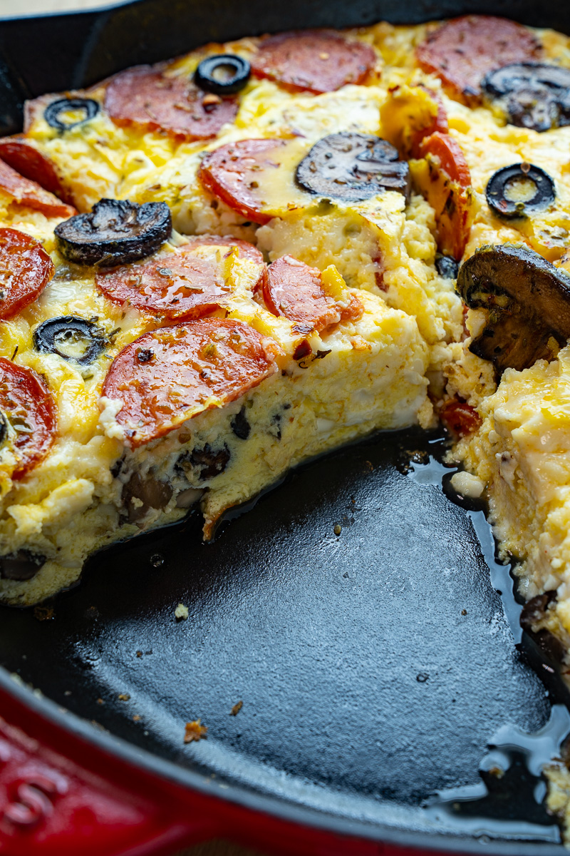 Pepperoni Pizza Egg Casserole