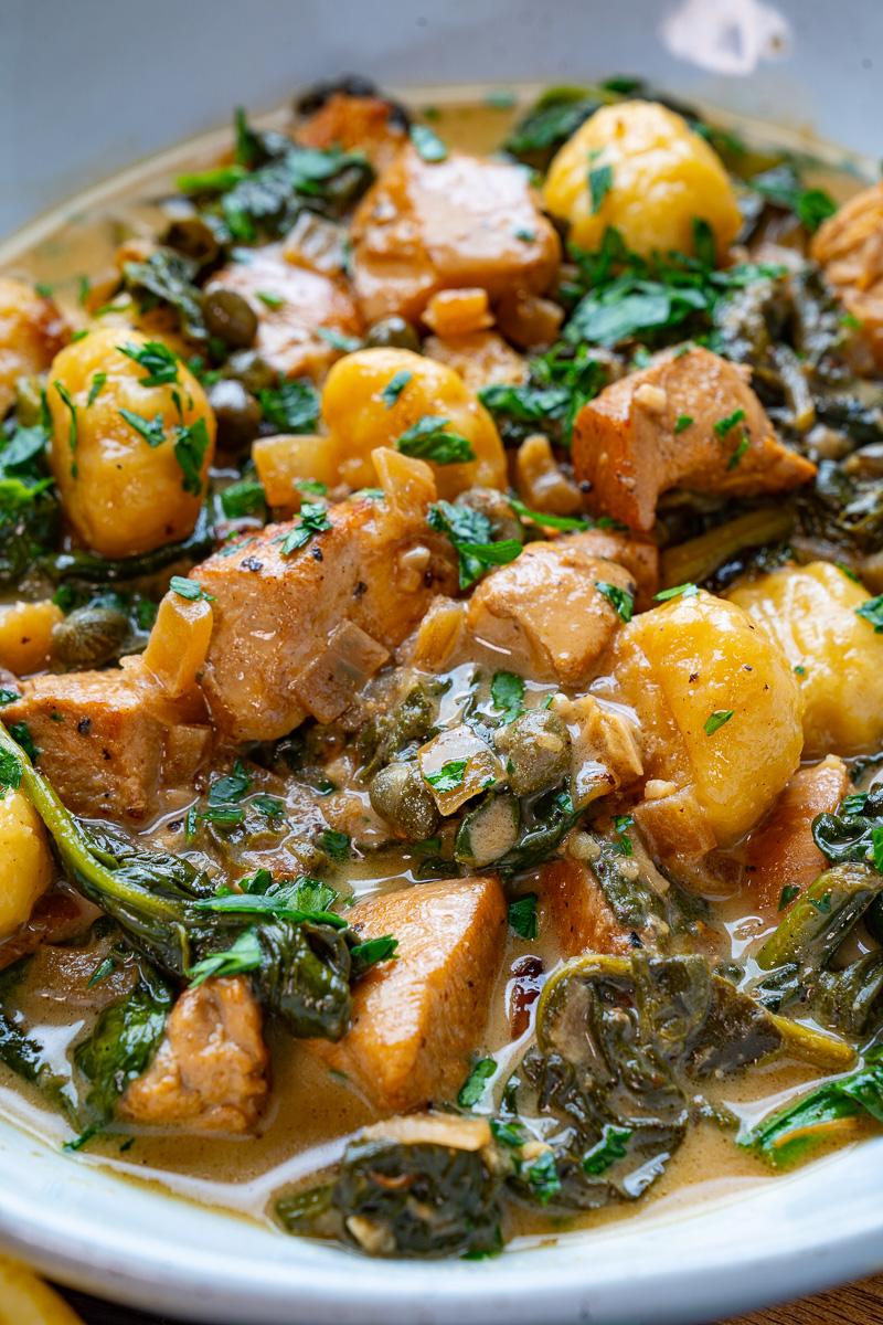 Chicken Gnocchi in a Creamy Lemon and Caper Sauce