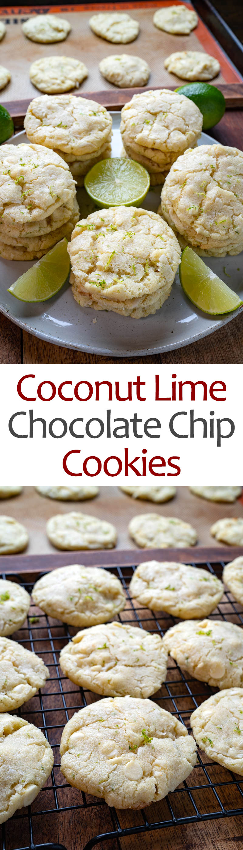 Coconut Lime White Chocolate Chip Cookies