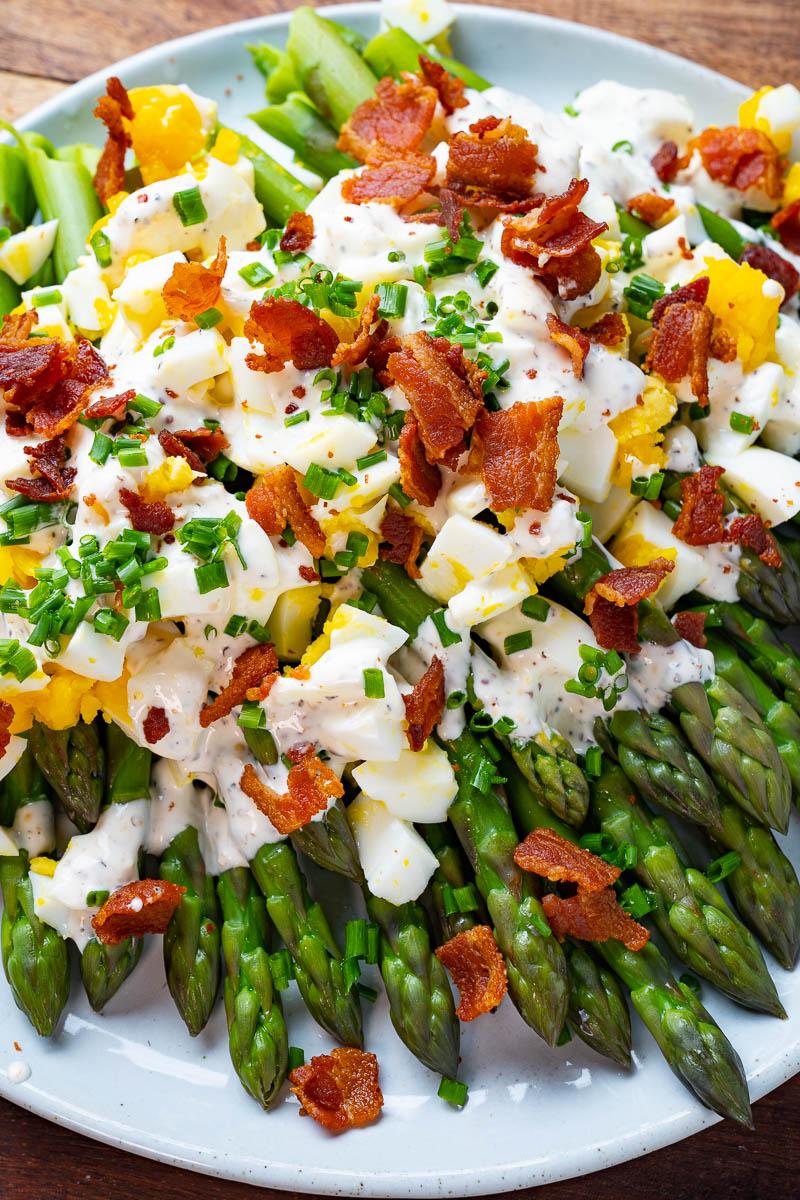 Asparagus Bacon and Egg Salad
