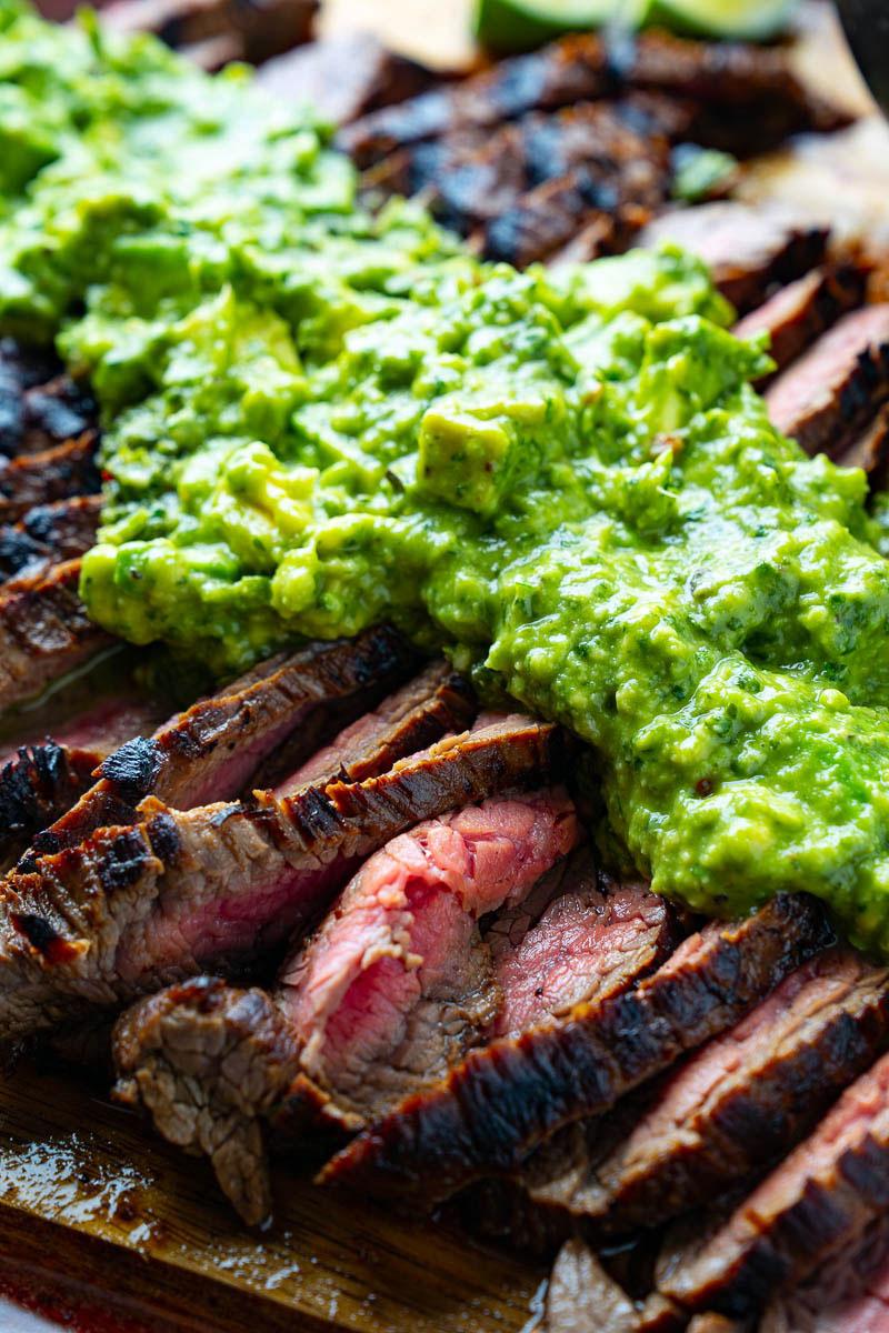 Carne Asada with Avocado Salsa Verde