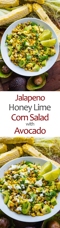 Jalapeno Honey Lime Corn Salad with Avocado
