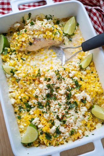 Mexican Street Corn Baked Chicken