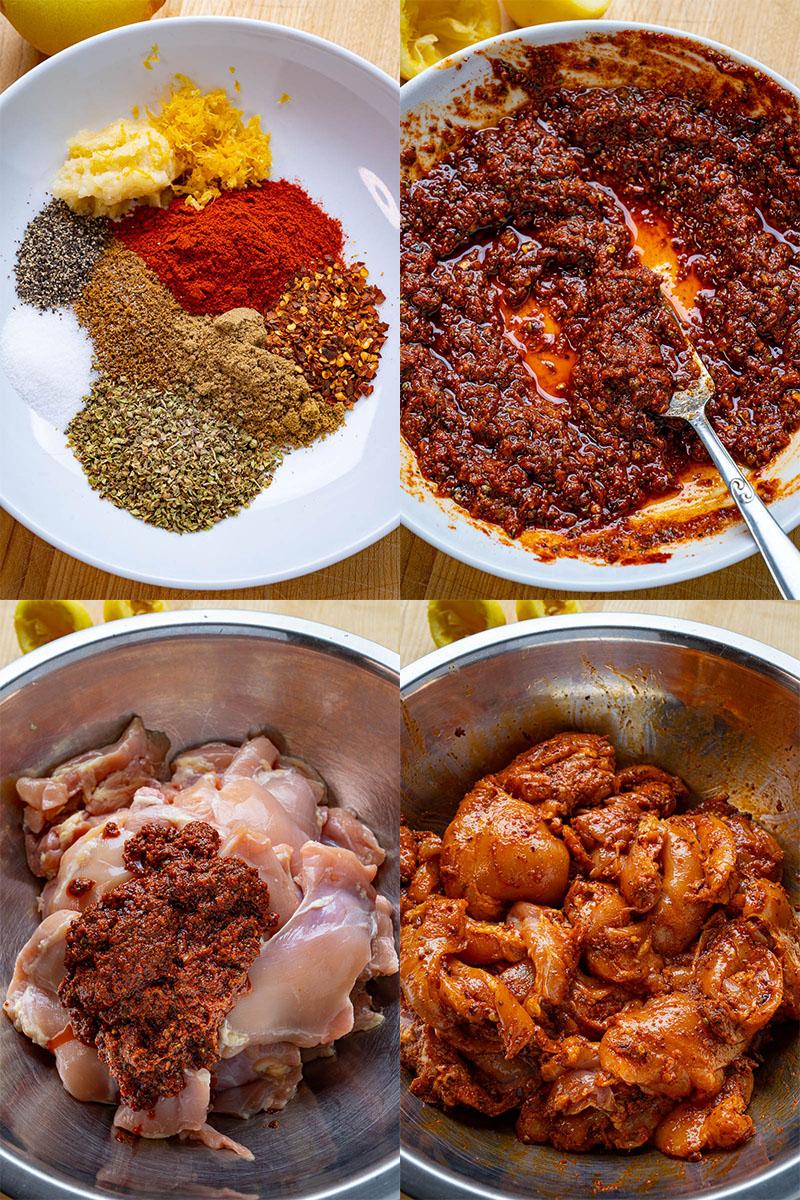 Roast Chicken Shawarma Gyros